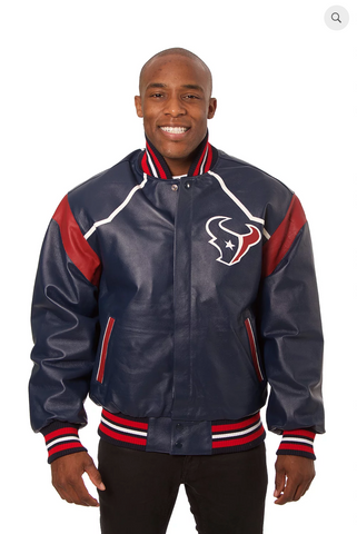 Houston Texans Hand Crafted Leather Team Jacket