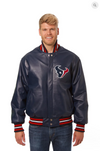 Houston Texans Hand Crafted Leather Solid Team Jacket