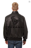 Houston Texans Hand Crafted Leather Tonal Jacket