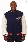 Houston Texans Wool and Leather Varsity Jacket