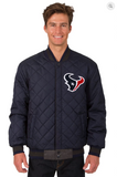 Houston Texans Reversible Wool & Leather Varsity Jacket