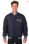 New England Patriots Reversible Wool Varsity Jacket