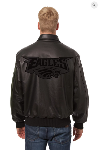Philadelphia Eagles Hand Crafted Leather Tonal Jacket