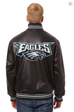 Philadelphia Eagles Hand Crafted Leather Solid Team Jacket