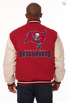 Tampa Bay Buccaneers Wool and Leather Varsity Jacket