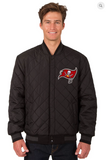 Tampa Bay Buccaneers Reversible Wool & Leather Varsity Jacket