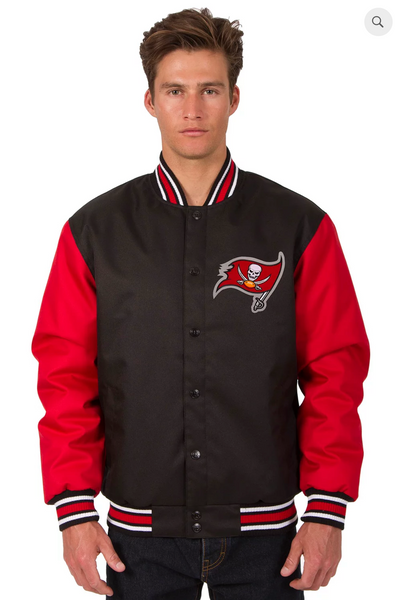 Tampa Bay Buccaneers Poly-Twill Varsity Jacket with Front Logo