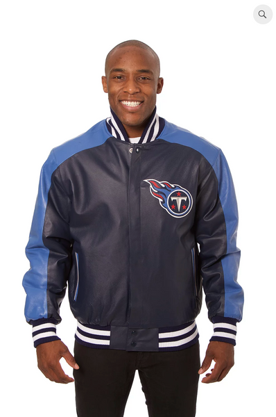 Tennessee Titans Hand Crafted Leather Team Jacket