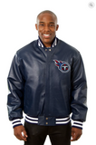 Tennessee Titans Hand Crafted Leather Solid Team Jacket