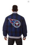 Tennessee Titans All Wool Plaid Jacket with Back Logo