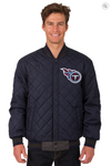 Tennessee Titans Reversible Wool & Leather Varsity Jacket