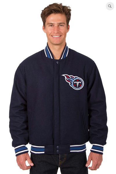 Tennessee Titans Reversible Wool Varsity Jacket