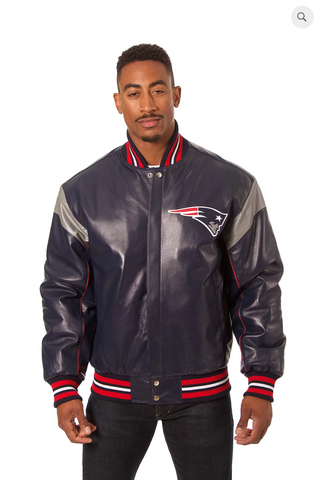 New England Patriots Hand Crafted Leather Team Jacket