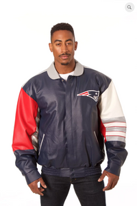 New England Patriots Hand Crafted Leather Classic Jacket
