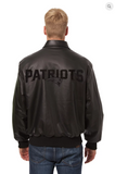 New England Patriots Hand Crafted Leather Tonal Jacket