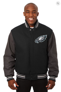 Philadelphia Eagles All Wool Two-Toned Jacket with Back Logo
