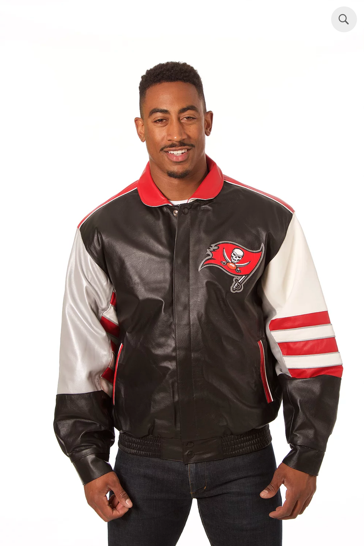Tampa Bay Buccaneers Hand Crafted Leather Classic Jacket