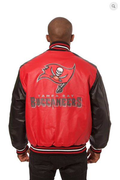 Tampa Bay Buccaneers Hand Crafted Leather Team Jacket