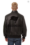 Tampa Bay Buccaneers Hand Crafted Leather Tonal Jacket