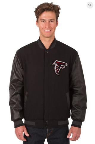 Atlanta Falcons Reversible Varsity Jacket with Back Logo