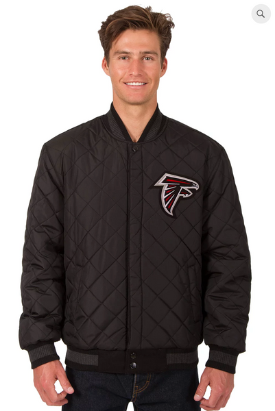 Atlanta Falcons Reversible Wool & Leather Varsity Jacket