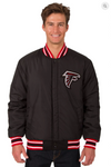 Atlanta Falcons Reversible Wool Varsity Jacket with Red Trimming