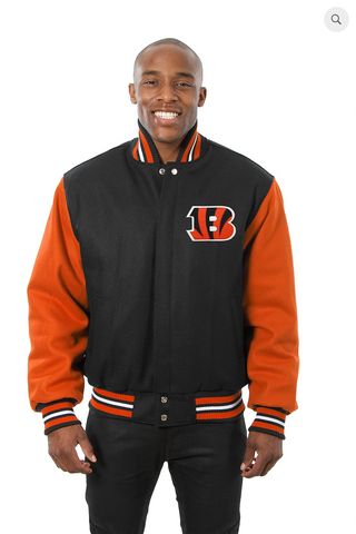 Cincinnati Bengals Wool Two-Toned Jacket with Back Logo