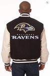 Baltimore Ravens Wool and Leather Varsity Jacket