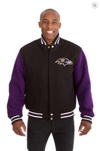 Baltimore Ravens All Wool Two-Toned Jacket with Back Logo