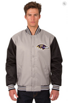 Baltimore Ravens Poly-Twill Varsity Jacket with Front Logo Only