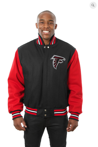 Atlanta Falcons All Wool Two-Toned Jacket with Back Logo