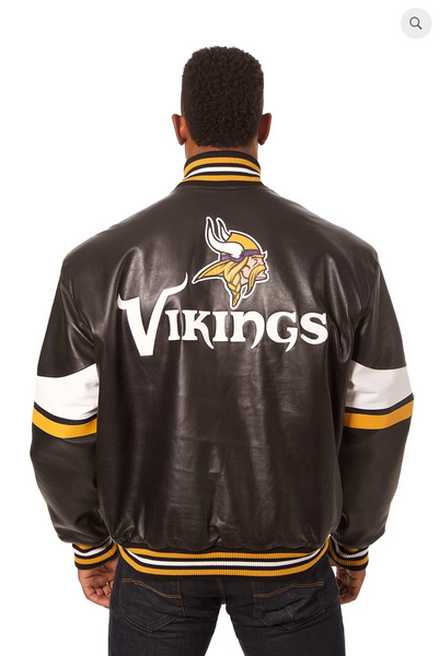 Minnesota Vikings Hand Crafted Leather Team Jacket