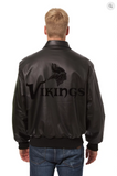 Minnesota Vikings Hand Crafted Leather Tonal Jacket