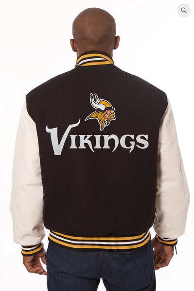 Minnesota Vikings Wool and Leather Varsity Jacket