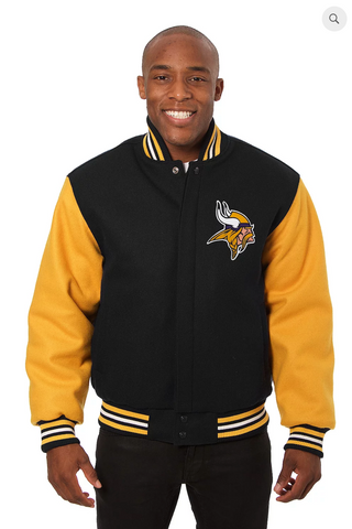 Minnesota Vikings All Wool Two-Toned Jacket with Back Logo