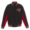 TAMPA BAY BUCCANEERS JH DESIGN WOOL REVERSIBLE FULL-SNAP JACKET – BLACK