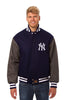 NEW YORK YANKEES EMBROIDERED WOOL JACKET - NAVY/CHARCOAL