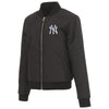 NEW YORK YANKEES JH DESIGN REVERSIBLE WOMEN FLEECE JACKET - BLACK