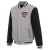 TAMPA BAY BUCCANEERS SUPER BOWL LV CHAMPIONS REVERSIBLE FLEECE FULL-SNAP JACKET - GRAY/BLACK