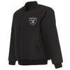 LAS VEGAS RAIDERS REVERSIBLE WOOL JACKET - BLACK
