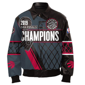 Toronto Raptors 2019 Championship All-Leather Jacket
