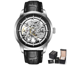 Load image into Gallery viewer, PAGANI DESIGN Skeleton Luxury Mens Watch - 3 Bar Waterproof with Leather Strap