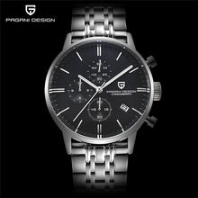 Load image into Gallery viewer, PAGANI DESIGN Luxury Mens Chronograph Watch with Leather Strap, Waterproof to 3 Bars