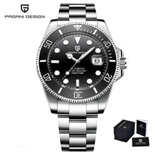 Load image into Gallery viewer, PAGANI DESIGN Luxury Diver Watch Mens - 100M Waterproof Stainless Steel Bracelet