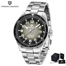 Load image into Gallery viewer, PAGANI DESIGN Luxury Mens Diver Chrono Watch, Stainless Steel Bracelet with classic Face, Waterproof to 10 Bars
