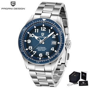 PAGANI DESIGN Luxury Mens Diver Chrono Watch, Stainless Steel Bracelet with classic Face, Waterproof to 10 Bars