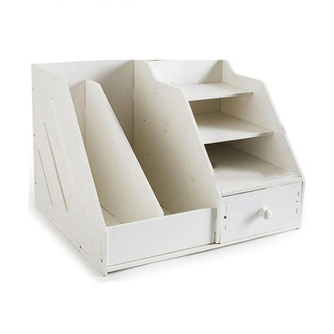 Rangement Documents Bureau blanc
