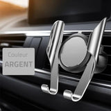 Support Telephone pour Voiture Argent