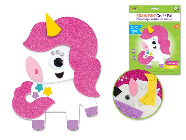 DIY Foam Friends Craft Kit Peel-n-Stick - S) Unicorn