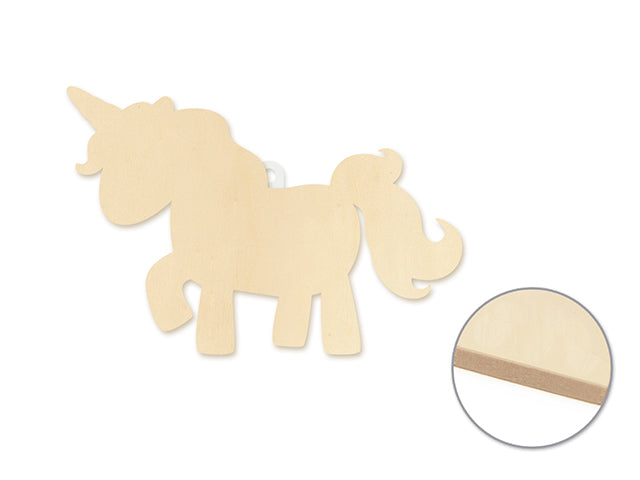 "Wood Decor: 8.5"" DIY Wall Plaques 4mm Thick K) Unicorn"